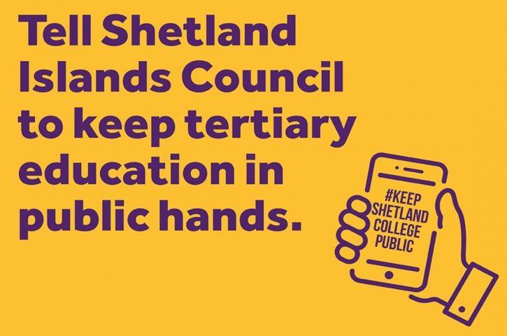 FELA Action – Opposing Privatisation of Education at Shetland College